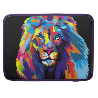 Colorful lion MacBook pro sleeves