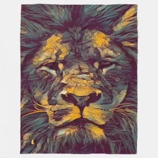 Colorful Lion of God Fleece Blanket