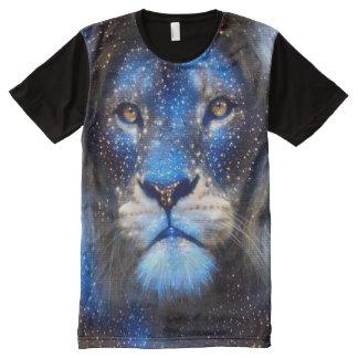 Colorful Lion Spirit Animal Starry Sky Fantasy Art All-Over Print T-Shirt