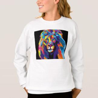 Colorful lion sweatshirt