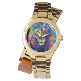 Colorful lion watch