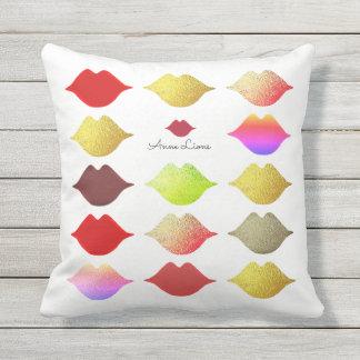 colorful lips / color mouths elegant & feminine cushion
