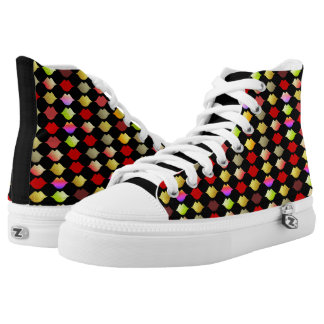 colorful lips high tops