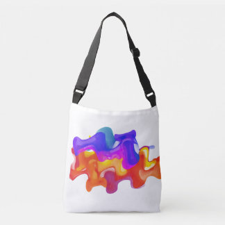 Colorful Liquid Blast Tote Bag