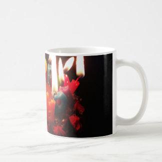 "Colorful, LitC ""Happy Birthday"" Candles, Dark Room Coffee Mug"