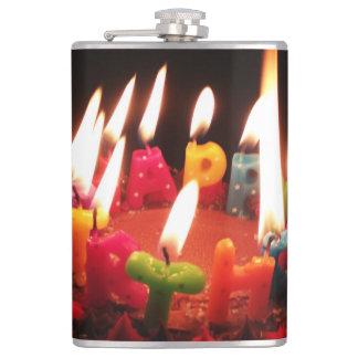 "Colorful, LitC ""Happy Birthday"" Candles, Dark Room Flasks"