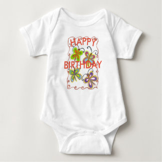 Colorful Little Princess Happy Birthday Baby Bodysuit