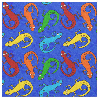 Colorful Lizard Kid's Fabric