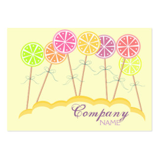 Colorful Lollipop Candy Shop Bakery Business Card Business Cards