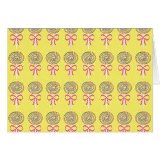 Colorful lollipops pattern card