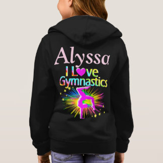 COLORFUL LOVE GYMNASTICS PERSONALIZED HOODIE
