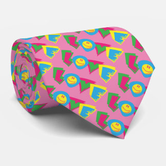 Colorful love sign tie