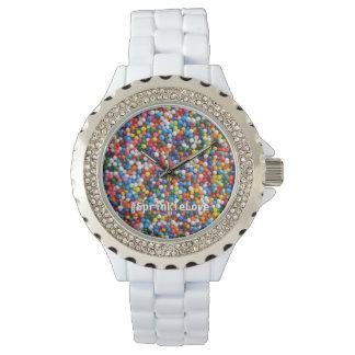 Colorful Love Sprinkles & Sparkles Custom Hashtag Watch