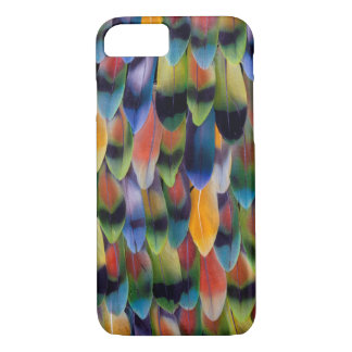 Colorful lovebird parrot feathers iPhone 8/7 case