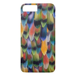 Colorful lovebird parrot feathers iPhone 8 plus/7 plus case