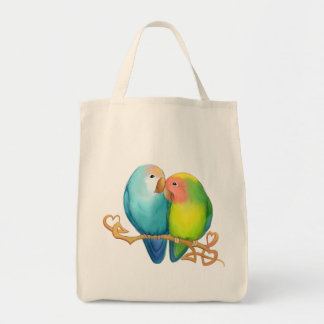 Colorful Lovebird Tote
