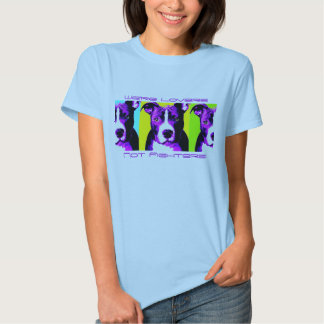 Colorful Lovers Not Fighters Pit Bull Shirt