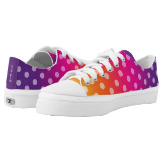 Colorful Low tops Printed Shoes