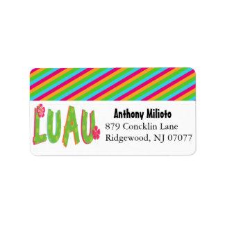 Colorful Luau Label/ Sticker Address Label