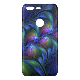Colorful Luminous Abstract Blue Pink Green Fractal Uncommon Google Pixel Case