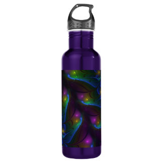 Colorful Luminous Abstract Modern Fractal Art 710 Ml Water Bottle