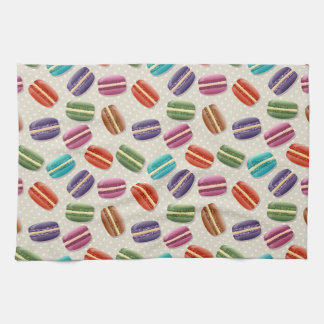Colorful macaron pattern towel