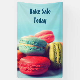 Colorful Macarons Cookies Banner for Your Event