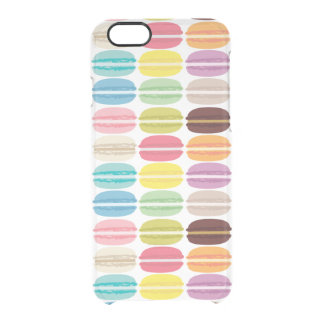 Colorful Macarons Pattern Clear iPhone 6/6S Case
