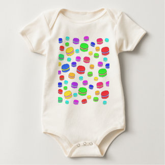 Colorful macaroons baby bodysuit
