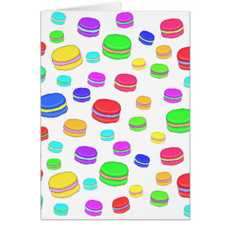 Colorful macaroons card
