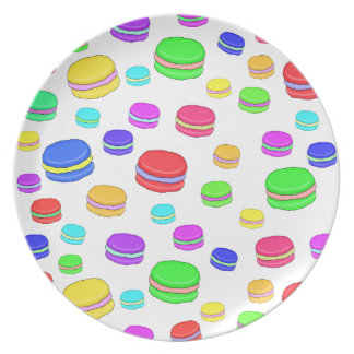 Colorful macaroons dinner plate