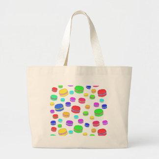 Colorful macaroons large tote bag