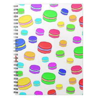 Colorful macaroons note books