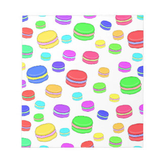 Colorful macaroons notepads