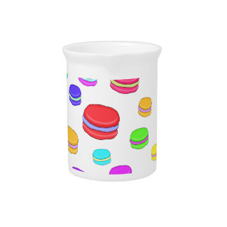 Colorful macaroons pitcher