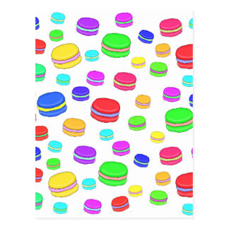 Colorful macaroons postcard