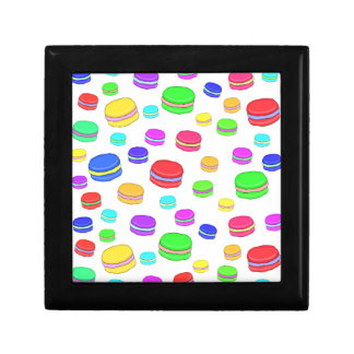 Colorful macaroons small square gift box
