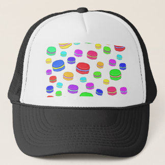 Colorful macaroons trucker hat