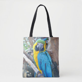 Colorful Macaw Parrot Tote Bag