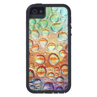 Colorful Macro Water Drops on Glass Photo iPhone 5 Covers
