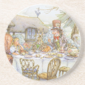 Colorful Mad Hatter's Tea Party Beverage Coasters