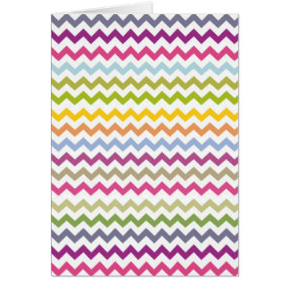 Colorful Made of Zig Zag Stripes Card
