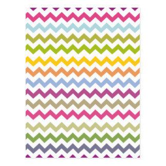 Colorful Made of Zig Zag Stripes Postcard