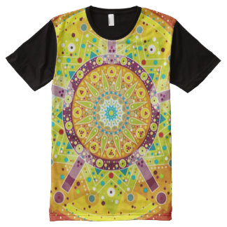 Colorful Magick Mandala Art All-Over Print T-Shirt