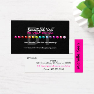 Colorful Makeup Artist Custom Referral Cards