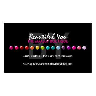 Colorful Makeup Artist Custom Referral Cards Business Card