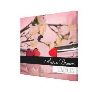 Colorful Makeup Photography Custom Name Canvas Print