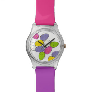 Colorful Malted Milk Easter Basket Candy Egg Watch