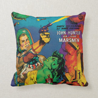 Colorful Man O' Mars Vintage 50s Comic Book Cover Cushion