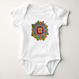 Colorful Mandala  Baby Jersey Bodysuit, White Baby Bodysuit